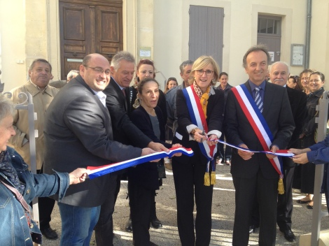 Inauguration à Vallabrègues