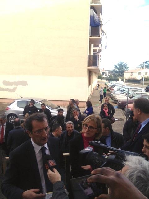 François LAMY et Françoise DUMAS lors de leur visite du mas de Mingue en mars dernier.