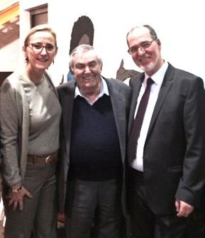 Aux côtés de Paul BENGUIGUI, Président de la communauté juive du Gard et de Driss EL MOUDNI, Président du Conseil régional du culte musulman.